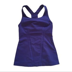 "LULULEMON Purple ""Stand Strong"" Racerback Tank, 4"